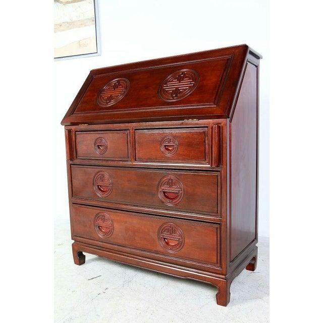 Chinese Rosewood Secretary Desk Image 2 Of 8