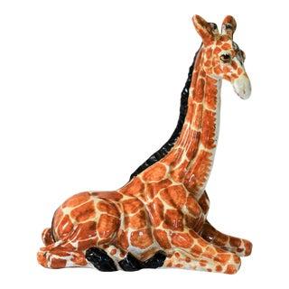 Vintage Italian Terracotta Giraffe For Sale