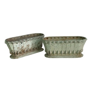 19th Century French Cast Iron Jardinieres - a Pair For Sale