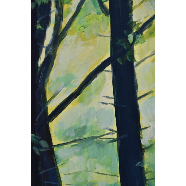"Stephen Remick Contemporary Painting, ""Entering the Forest"", by Stephen Remick For Sale - Image 4 of 10"