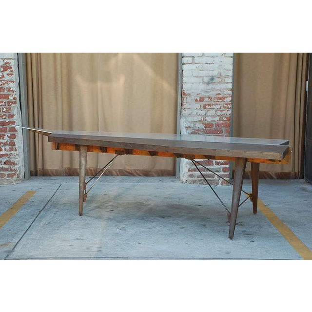 1990s One of a Kind Industrial Studio Work Table For Sale - Image 4 of 8