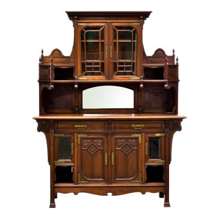 1920s French Art Nouveau Mahogany Buffet For Sale