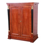Image of Baker Furniture Palladian Collection Cherry Wood Neoclassical Bar Cabinet For Sale