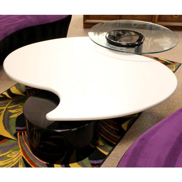 Modern Postmodern Modernist Rougier Articulating 3-Tier Coffee Table, 1980s For Sale - Image 3 of 11