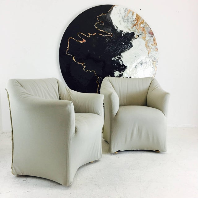 Mid-Century Modern Pair of Tentazione Lounge Chairs for Cassina by Mario Bellini For Sale - Image 3 of 5