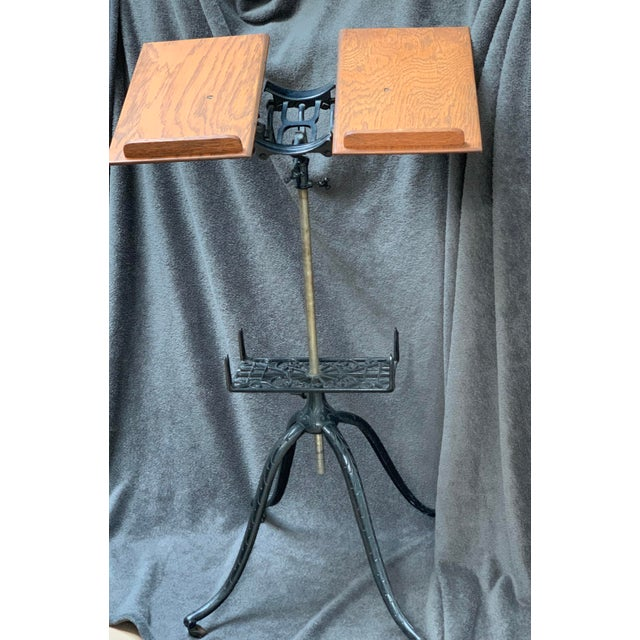 Antique Adjustable Book Stand For Sale - Image 10 of 10