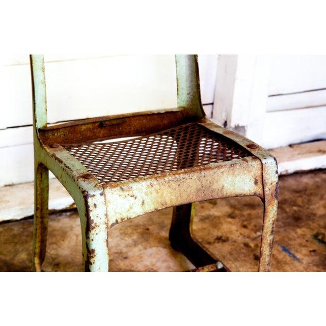 Metal 1950s Vintage Metal Envoy #13 Vintage Americana School Chair For Sale - Image 7 of 9