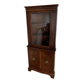 1940s Traditional Wooden Corner Hutch For Sale