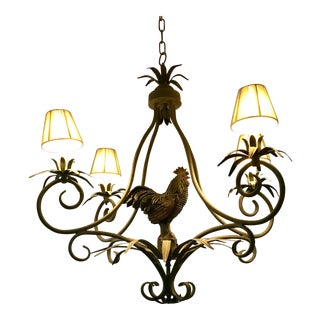 Modern Brown or Grey Rooster Chandelier For Sale