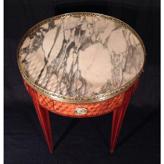 19th Century French Inlaid Bouillotte Table For Sale - Image 4 of 9