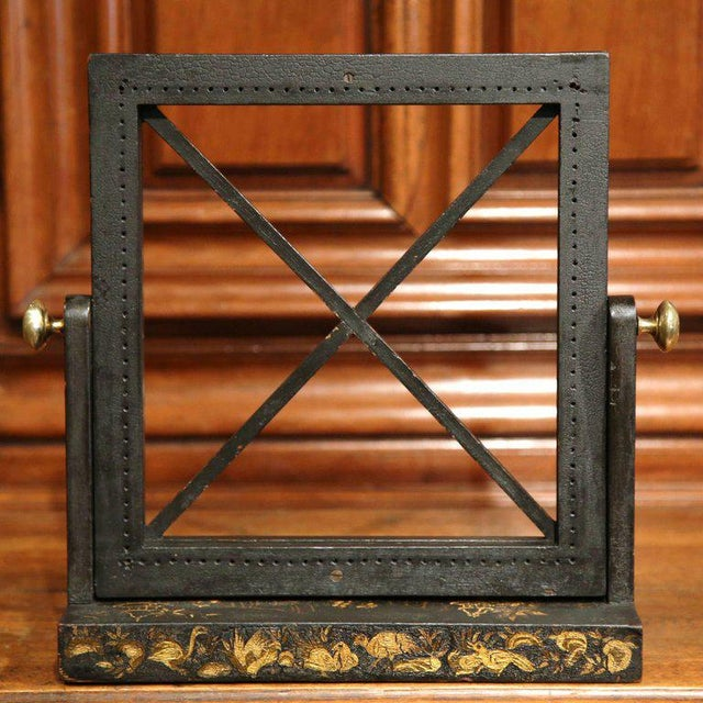 Early 20th Century French Hand Painted Bookstand - Image 7 of 7