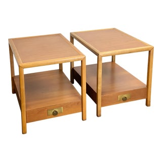 1960s Michael Taylor for Baker Furniture New World Collection Side Tables or Nightstands – a Pair For Sale
