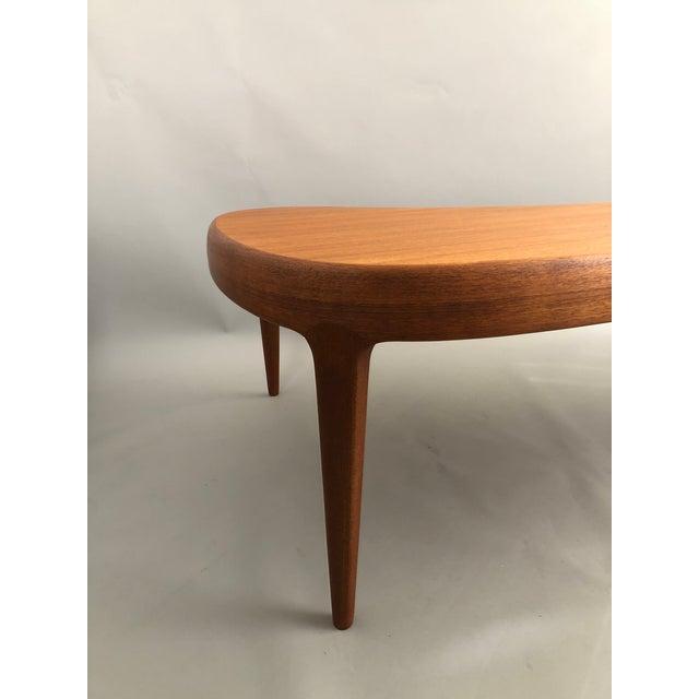 Mid-Century Modern Mid-Century Free-Form Teak Coffee Table For Sale - Image 3 of 5