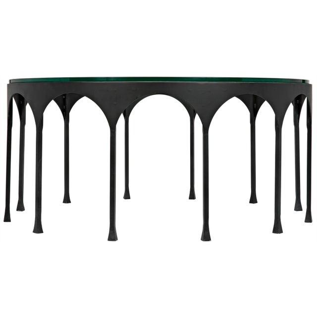Noir Achille Coffee Table, Matte Black For Sale - Image 4 of 4