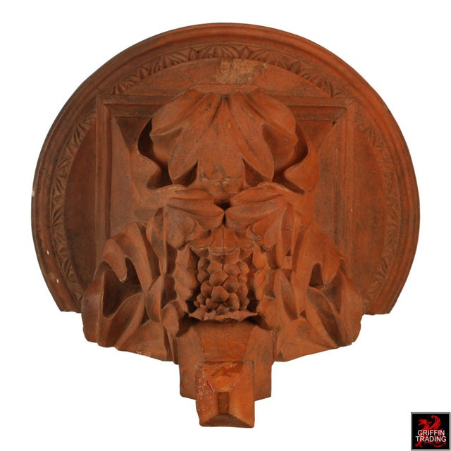 Large Terracotta Corbel Wall Bracket For Sale In Dallas - Image 6 of 11