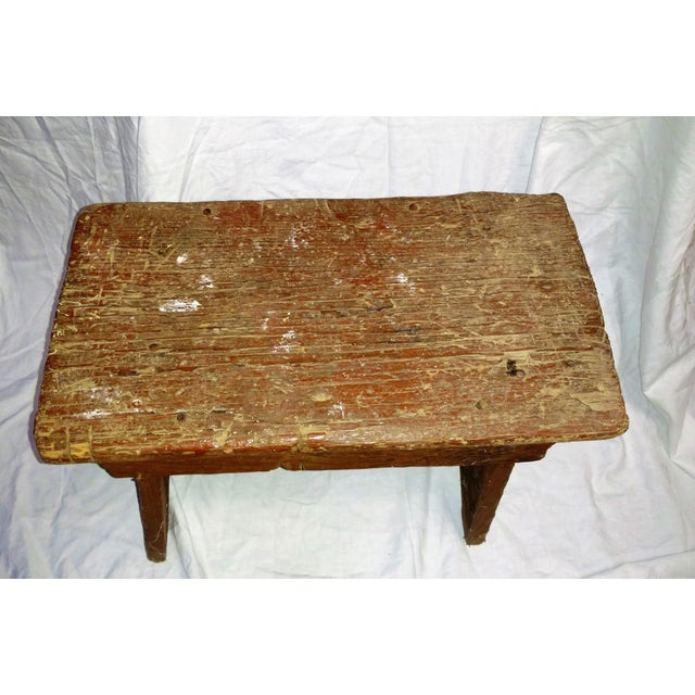 Primitive Cricket Farm Stool For Sale - Image 4 of 7