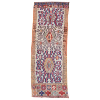 Konya Kilim Rug - 4′1″ × 11′3″ For Sale