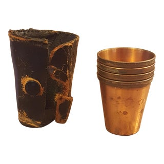 Solid Copper Shot Cups - Set of 4