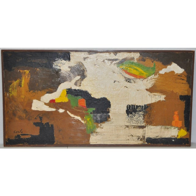 Carlo of Hollywood Vintage Abstract Painting 1960s - Image 2 of 7