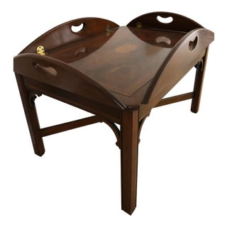 1980s Traditional Classic Butler's Tray Table For Sale