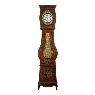 19th Century Antique French Comtoise Grandfather Clock For Sale