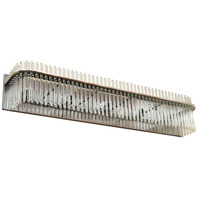 Sciolari Italian Modern Wall Sconce With Glass Rods For Sale - Image 9 of 9