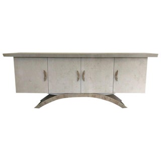 Tessellated Travertine Sculptural Cabinet by Marquis Collection of Beverly Hills For Sale