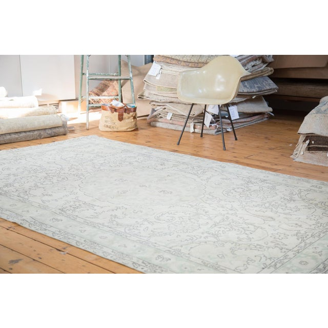 "Distressed Oushak Carpet - 6'3"" X 10' - Image 2 of 8"