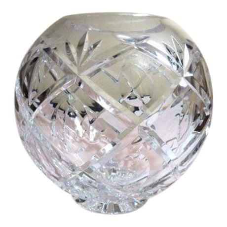 Clear Cut Crystal Rose Bowl Vase - Image 1 of 10