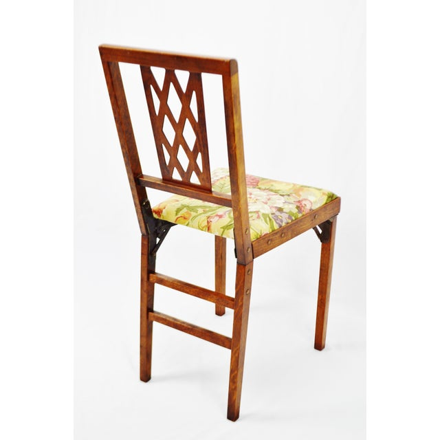 Metal Vintage Leg O Matic Folding Chair For Sale - Image 7 of 11