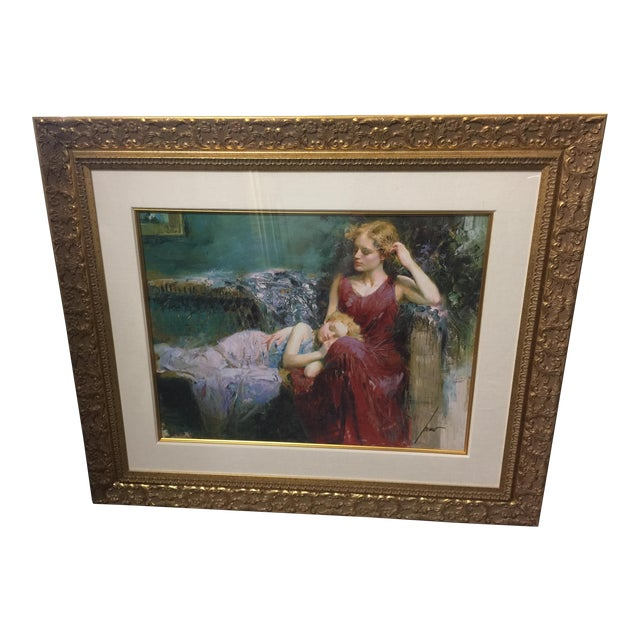Pino Daeni Lithograph Mother & Child Signed For Sale