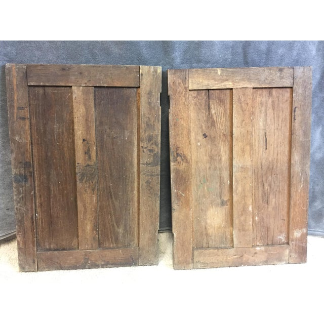 Vintage Rustic Wood Cabinet Doors - A Pair - Image 6 of 11
