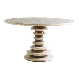 Marzio Cecchi Travertine Dining Table For Sale