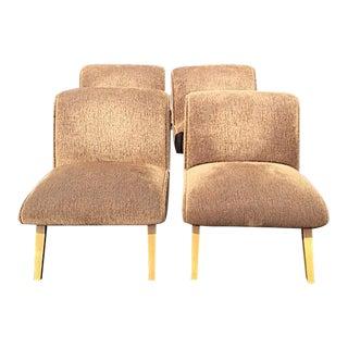 Norman Bel Geddes Style Mid-Century Slipper Chair - Set of 4