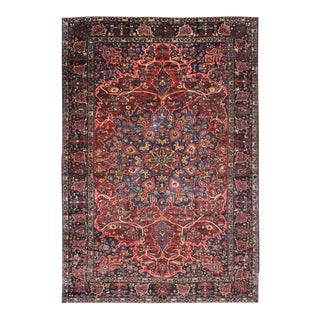 Antique Persian Bakhtiari Rug With Traditional Modern Style, 11'00 X 16'02