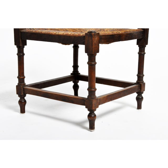 French Wooden Corner Chairs - a Pair For Sale - Image 11 of 13