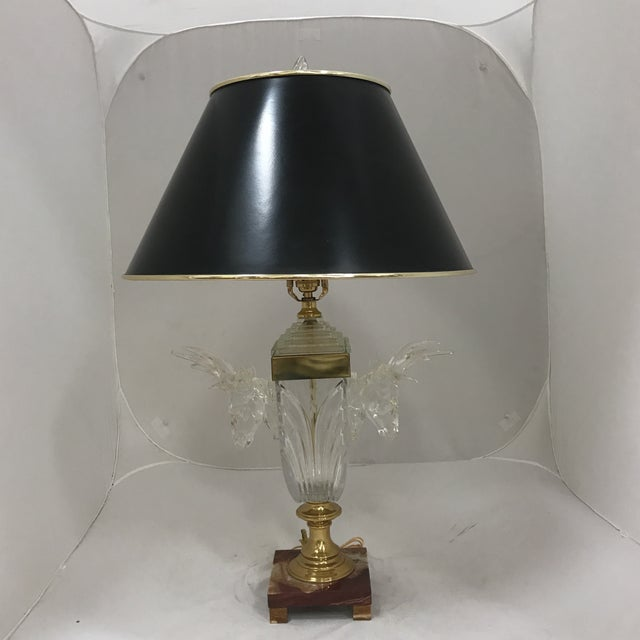 Cut Glass Deer Head Table Lamp - Image 2 of 11