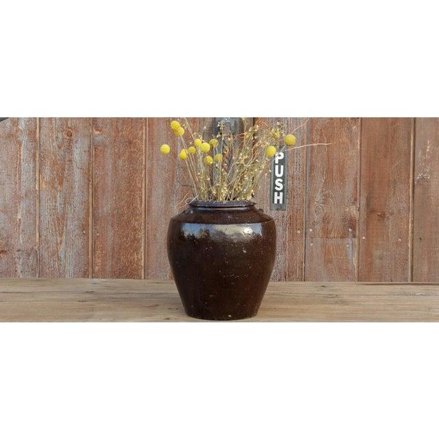 Late 19th Century Antique Ebony Mandalay Martaban Jar For Sale - Image 5 of 6