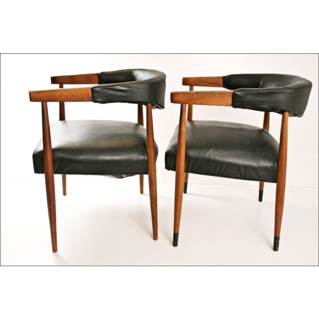 Danish Modern Accent Chairs - Pair - Image 5 of 11