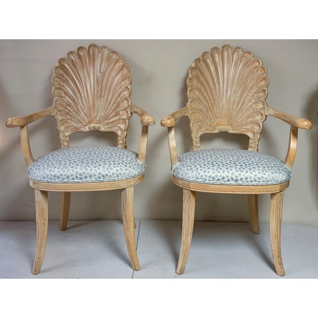 Pair of Shell Backed Chairs in Leopard Upholstery For Sale - Image 10 of 12