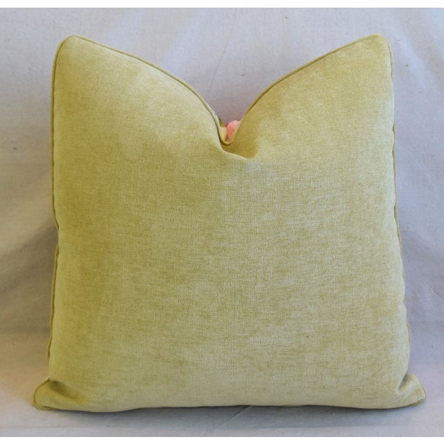"""French Brunschwig & Fils Floral Feather/Down Pillows 21"""" Square - Pair For Sale - Image 10 of 13"""