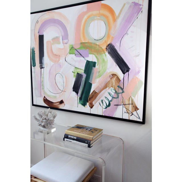 """Original Abstract Painting by Jen Ramos, """"Pistol & Jewels 1"""" For Sale - Image 9 of 10"""