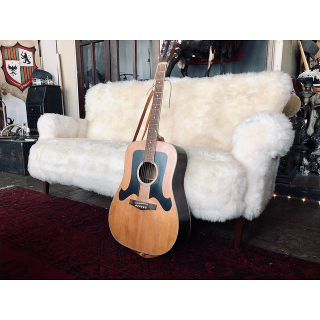 Textile White Mongolian Wool Sofa For Sale - Image 7 of 13