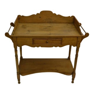 English Pine Washstand For Sale
