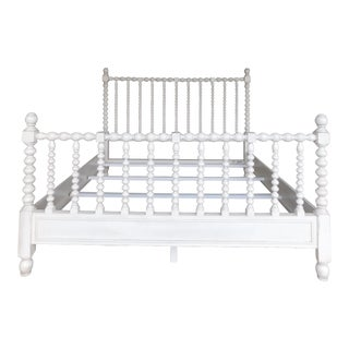 Justin Camlin Paint Decorated Spindle King Size Bed For Sale