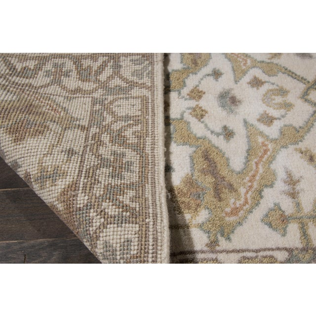 "21st Century Oushak Style Rug, 2'7"" X 20' For Sale In New York - Image 6 of 7"