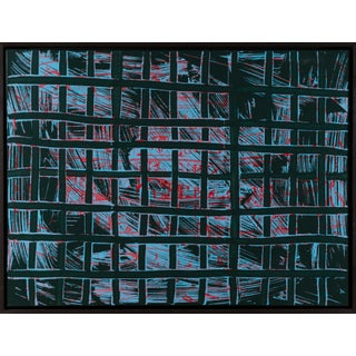 """""""A345"""" Contemporary Geometric Acrylic Painting by Marco Schmidli, Framed For Sale"""