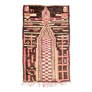 1980s Moroccan Boujad Rug - 5′1″ × 8′2″ For Sale