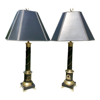 A Pair of Neoclassical Style Table Lamps For Sale