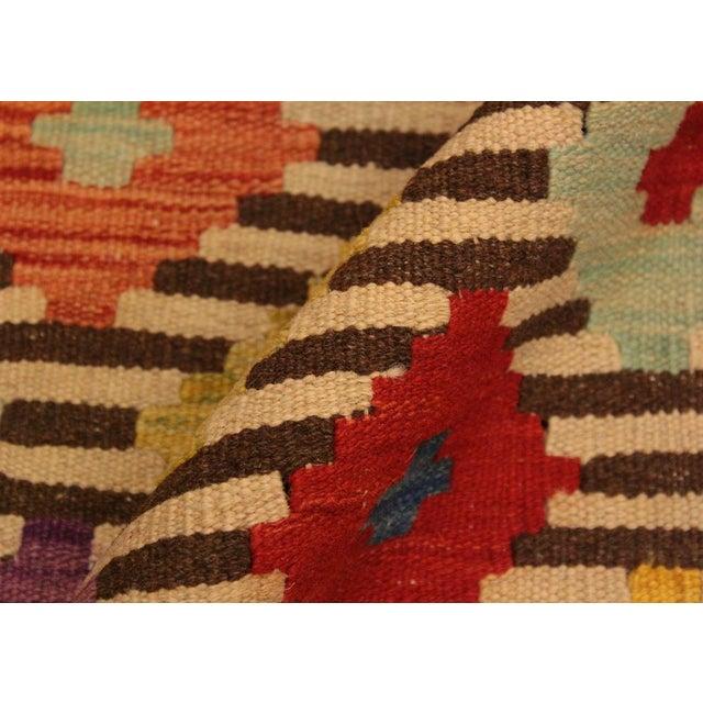 Kilim Arya Liriene Ivory/Brown Wool Rug -2'6 X 4'2 For Sale - Image 4 of 8